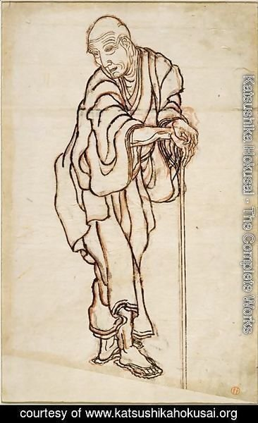 Katsushika Hokusai - Self-portrait in the age of an old man