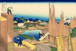 Katsushika Hokusai - Across the Tatekawa and Honjo District (Honjo Tatekawa)